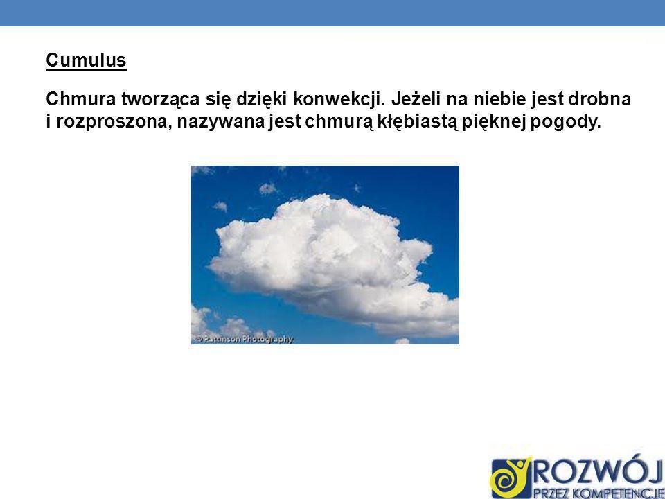 Cumulus Chmura tworząca się dzięki konwekcji
