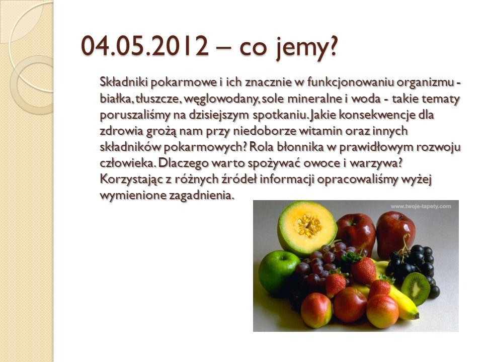 04.05.2012 – co jemy