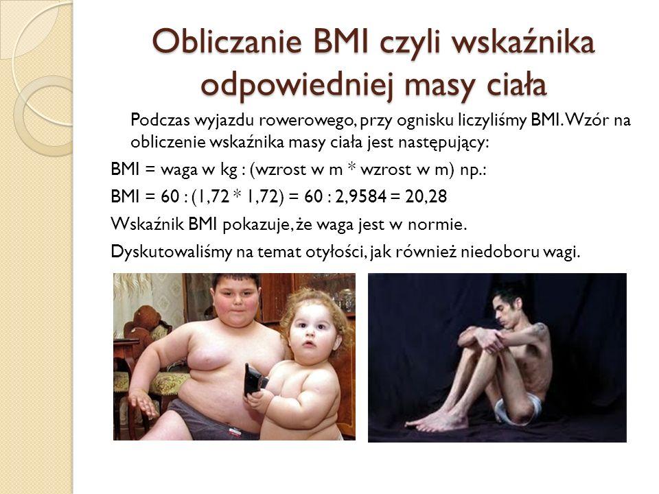 Obliczanie BMI czyli wskaźnika odpowiedniej masy ciała