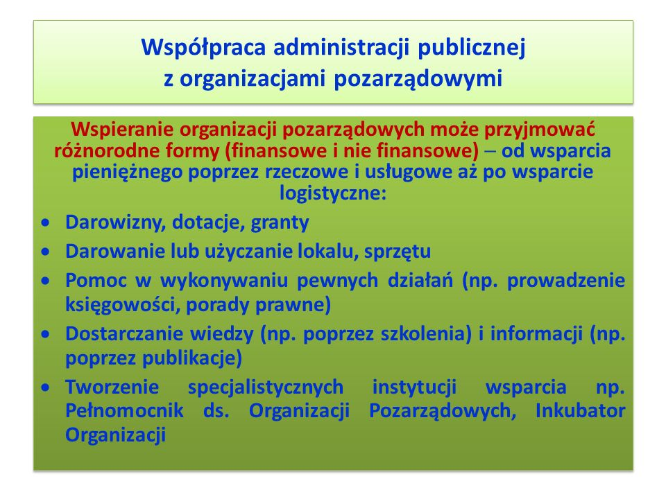 Współpraca administracji publicznej z organizacjami pozarządowymi