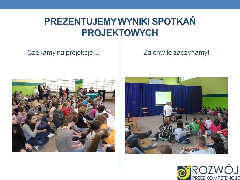 Prezentujemy Wyniki spotkań projektowych