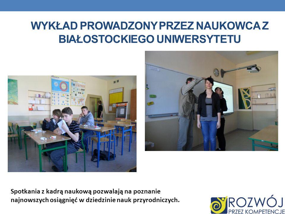 Wykład prowadzony przez naukowca z Białostockiego uniwersytetu