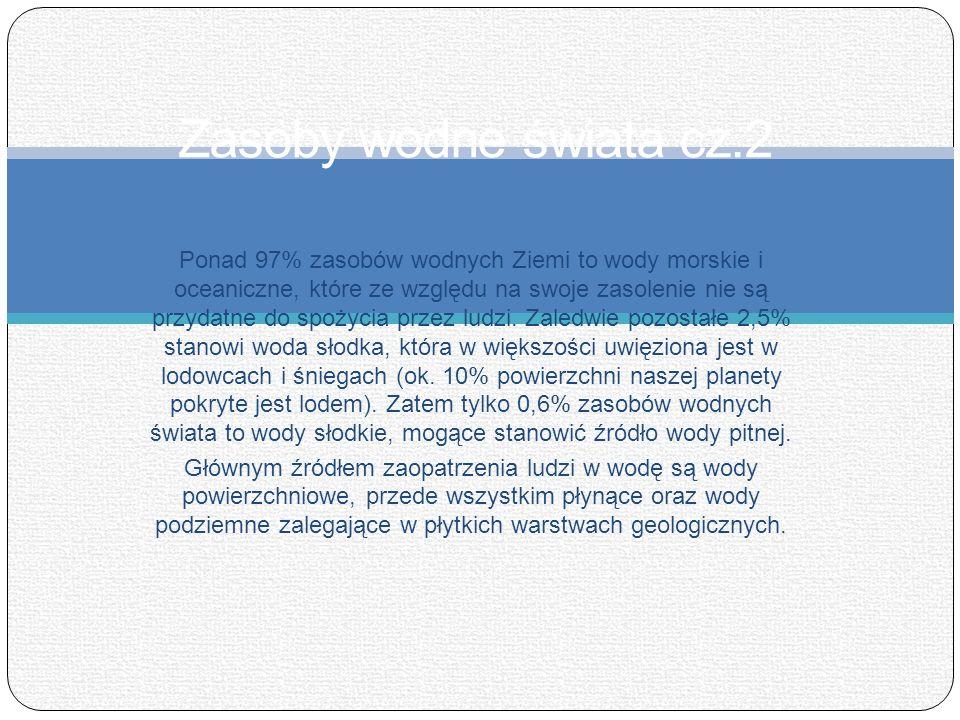Zasoby wodne świata cz.2