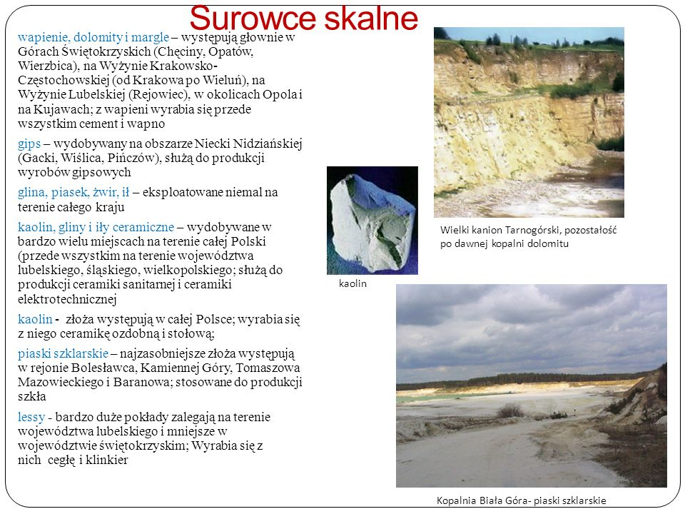 Kopalnia Biała Góra- piaski szklarskie