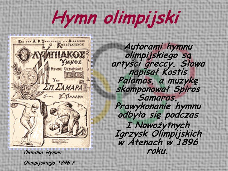 I Nowożytnych Igrzysk Olimpijskich w Atenach w 1896 roku.