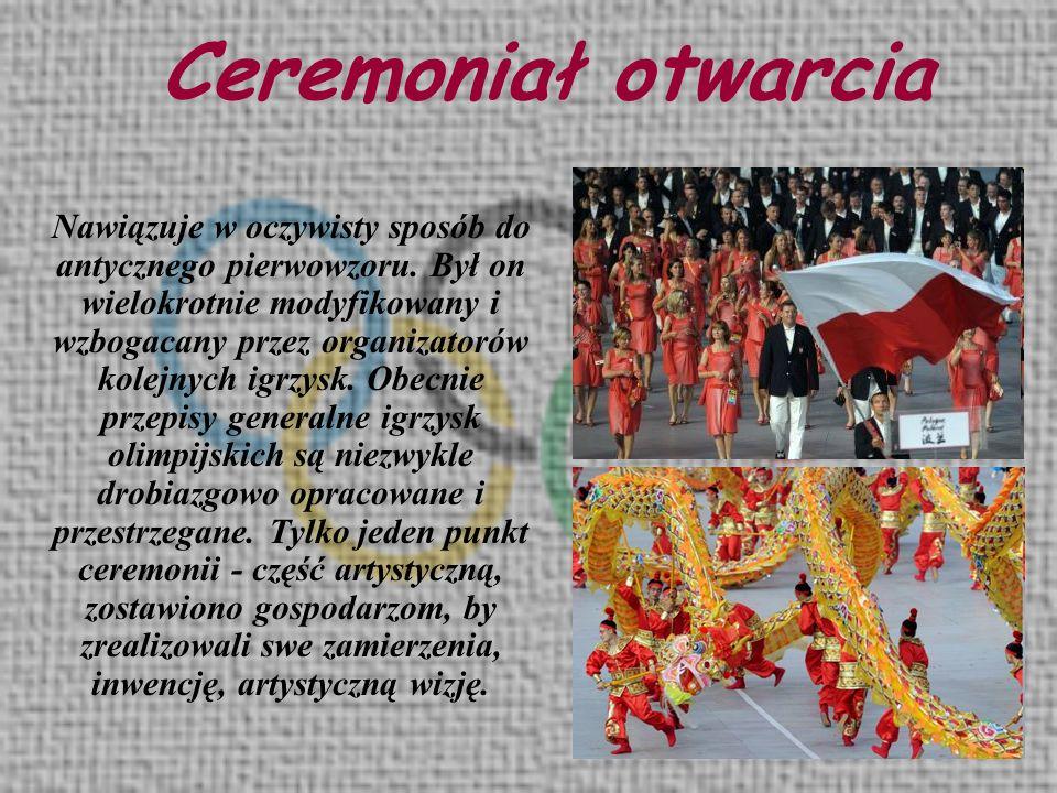 Ceremoniał otwarcia
