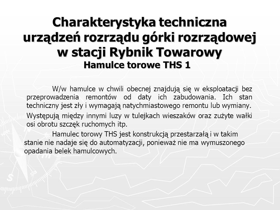 Charakterystyka techniczna urządzeń rozrządu górki rozrządowej w stacji Rybnik Towarowy Hamulce torowe THS 1
