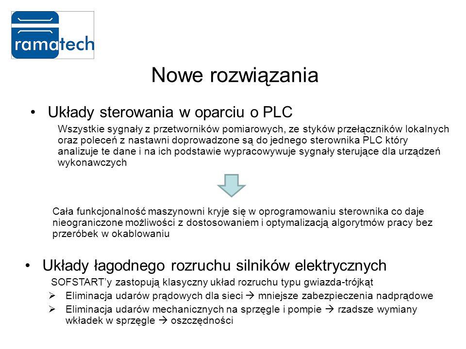 Nowe rozwiązania Układy sterowania w oparciu o PLC