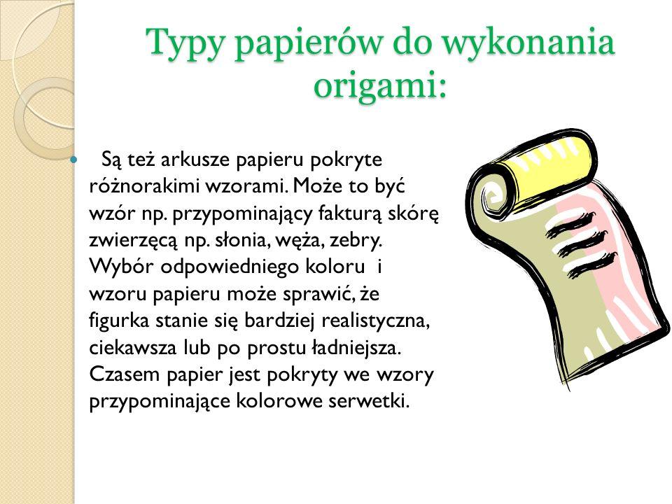 Typy papierów do wykonania origami: