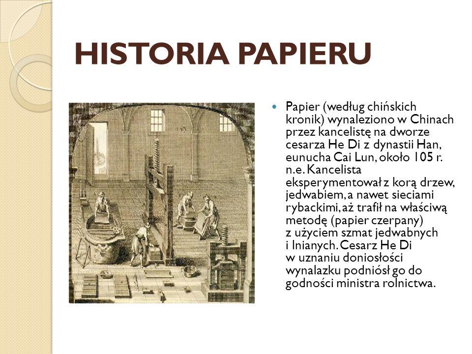 Historia papieru