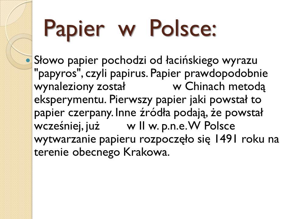 Papier w Polsce: