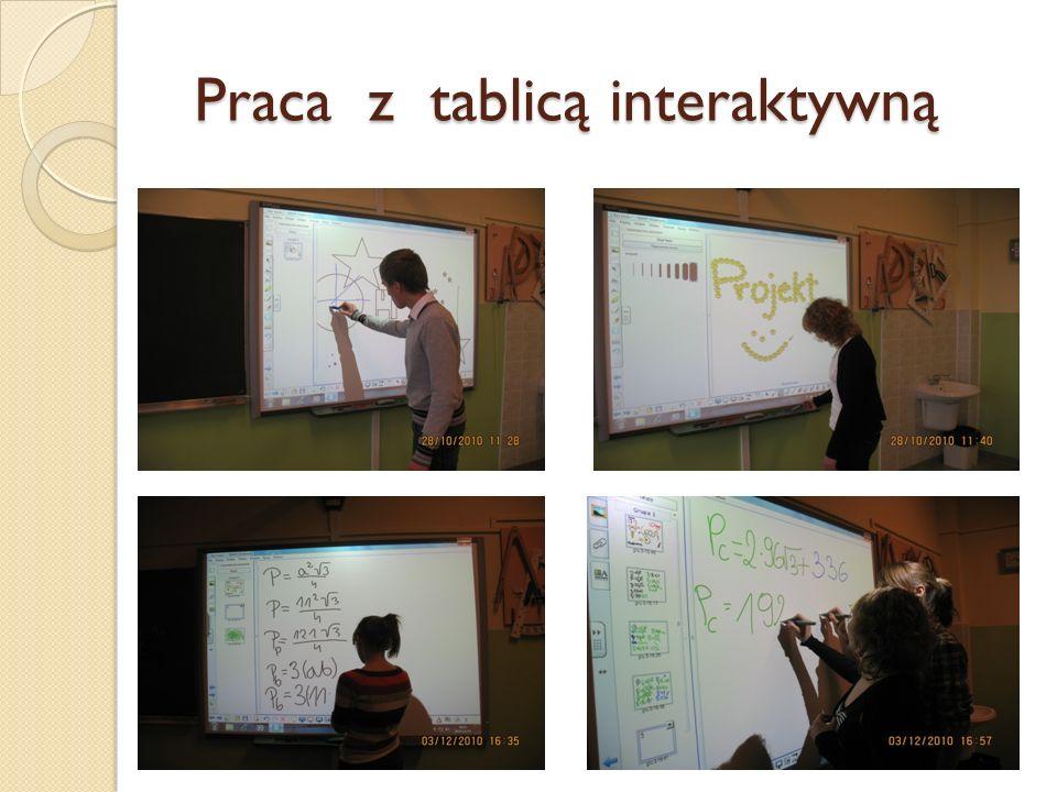 Praca z tablicą interaktywną