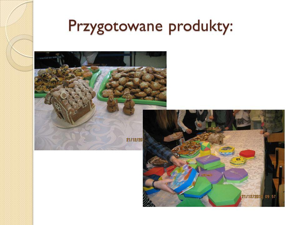 Przygotowane produkty: