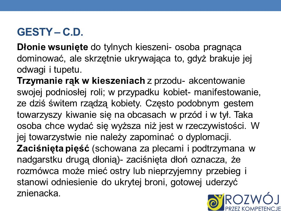 Gesty – c.d.