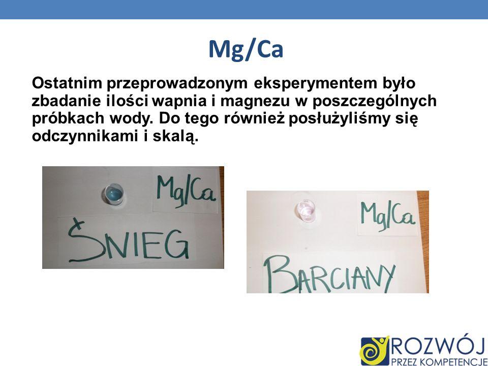 Mg/Ca