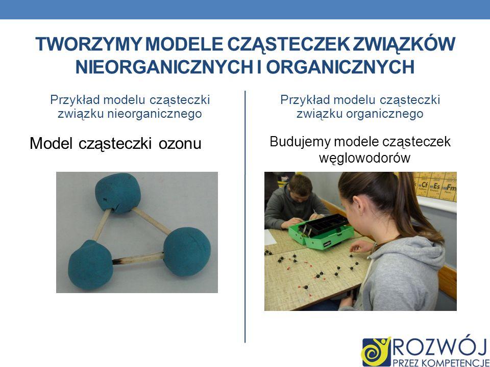 Tworzymy modele cząsteczek związków nieorganicznych i organicznych