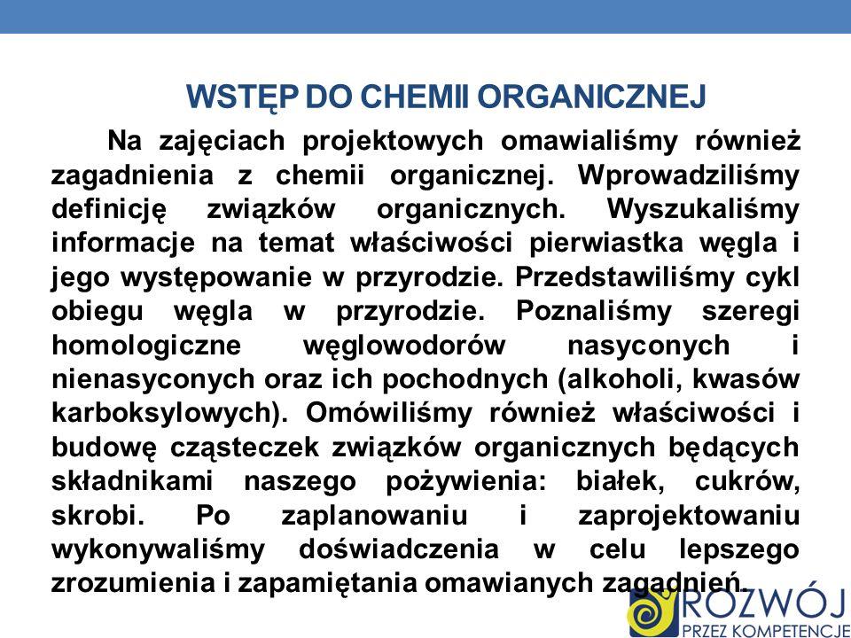 Wstęp do chemii organicznej