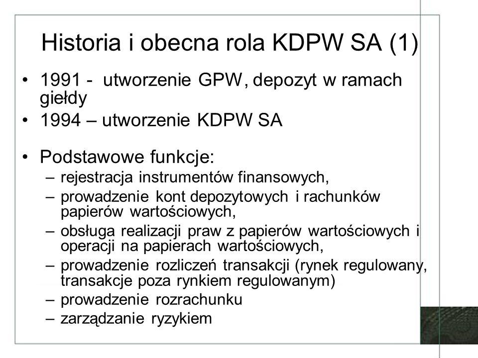 Historia i obecna rola KDPW SA (1)