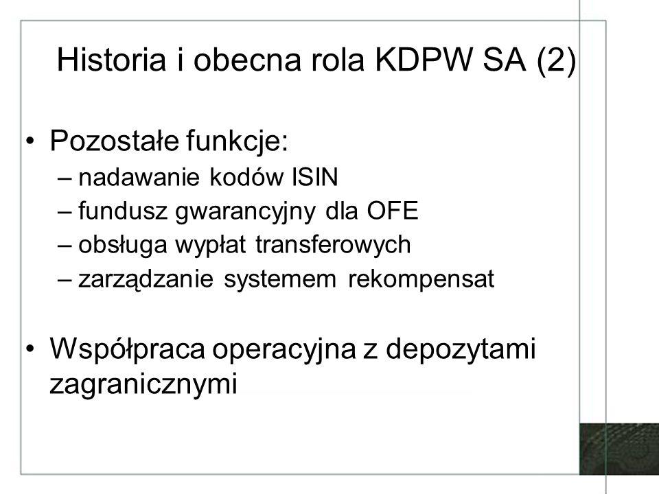 Historia i obecna rola KDPW SA (2)
