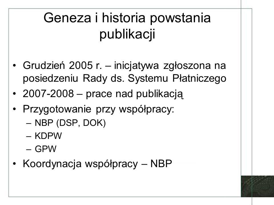 Geneza i historia powstania publikacji