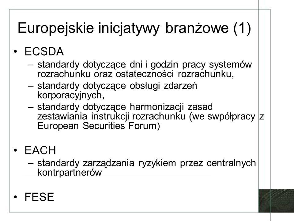 Europejskie inicjatywy branżowe (1)