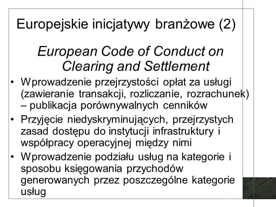 Europejskie inicjatywy branżowe (2)