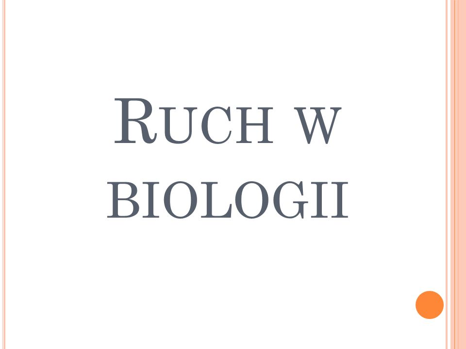 Ruch w biologii