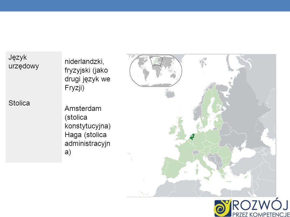 Język urzędowyniderlandzki, fryzyjski (jako drugi język we Fryzji) Stolica.
