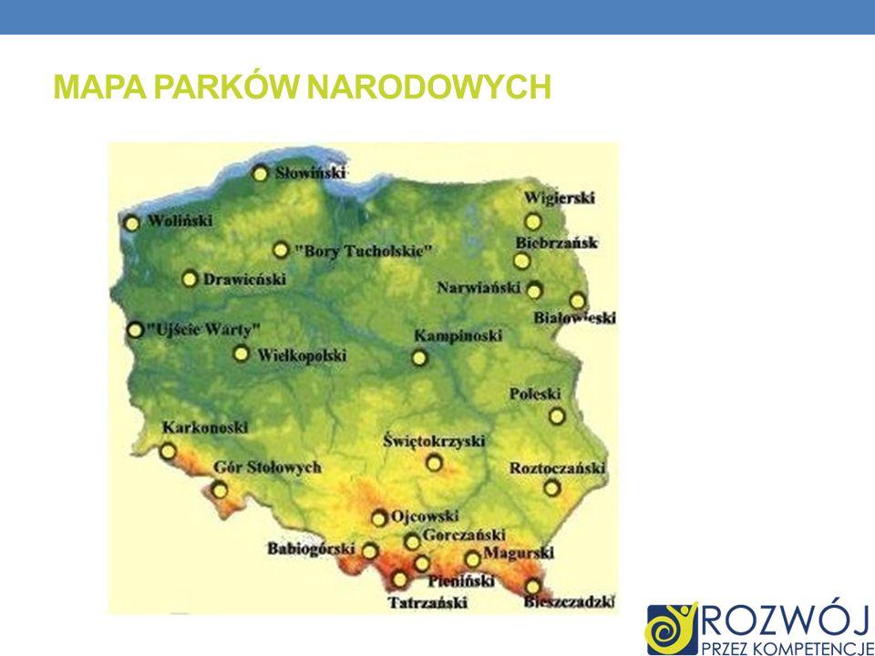 Mapa Parków Narodowych