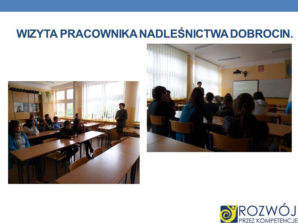 Wizyta pracownika Nadleśnictwa Dobrocin.