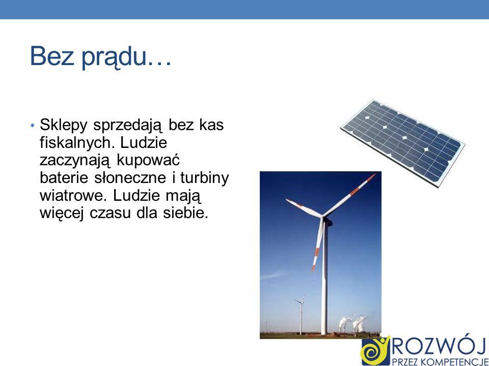 Bez prądu…Sklepy sprzedają bez kas fiskalnych.