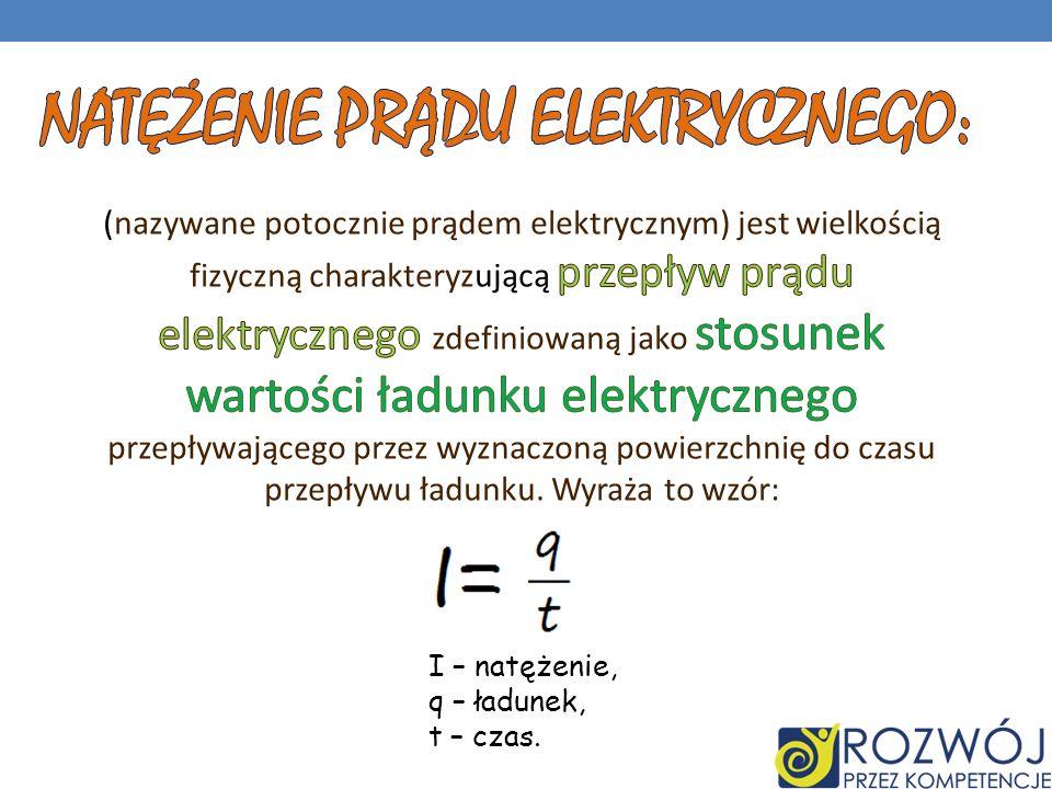 Natężenie prądu elektrycznego: