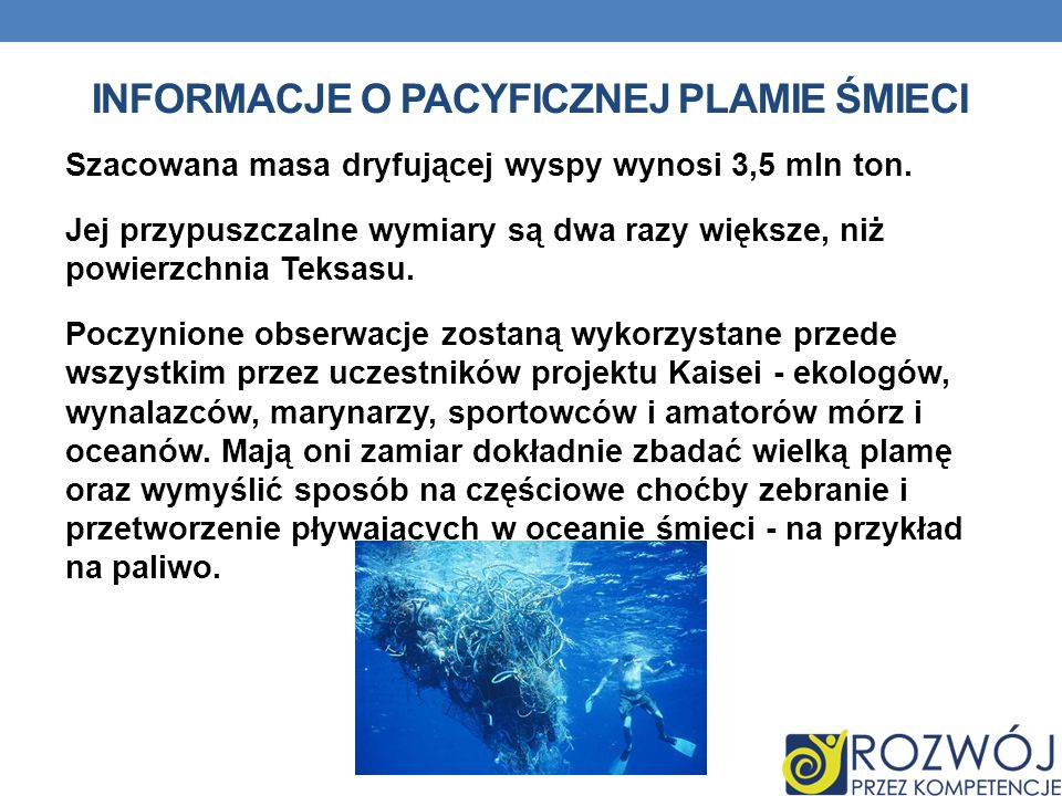 Informacje o Pacyficznej Plamie Śmieci