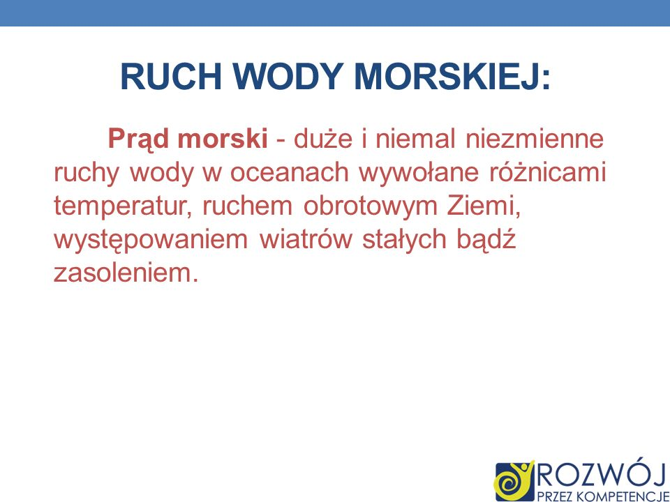 RUCH WODY MORSKIEJ: