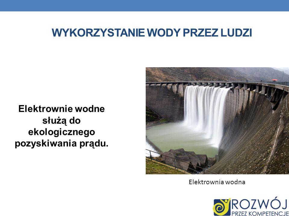 Wykorzystanie wody przez ludzi
