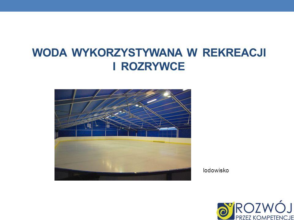 Woda wykorzystywana w rekreacji i rozrywce