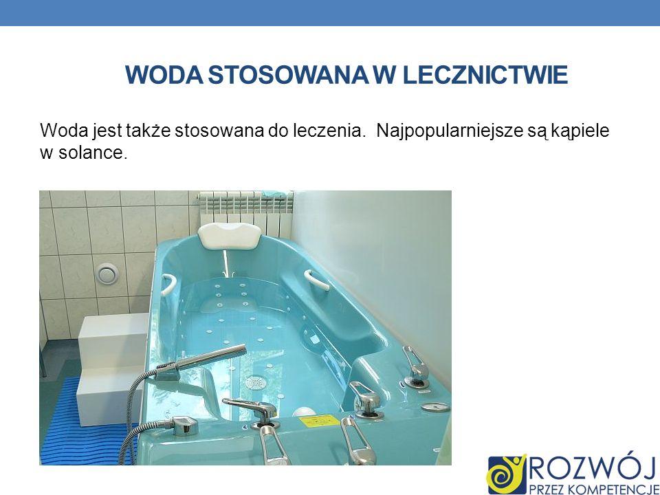 Woda stosowana w lecznictwie