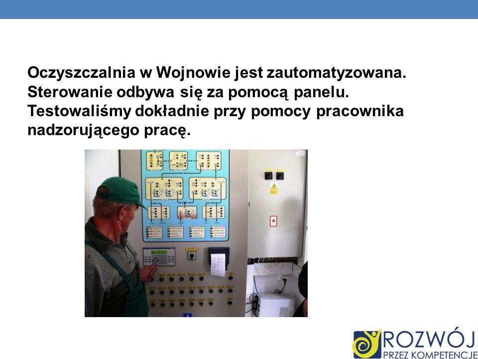Oczyszczalnia w Wojnowie jest zautomatyzowana