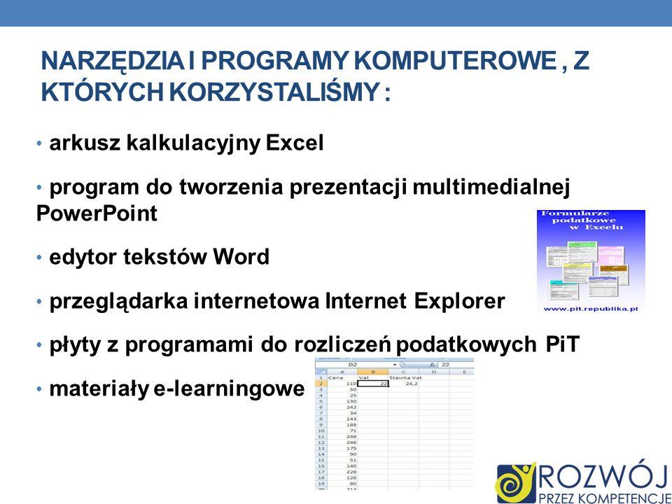Narzędzia i programy komputerowe , z których korzystaliśmy :