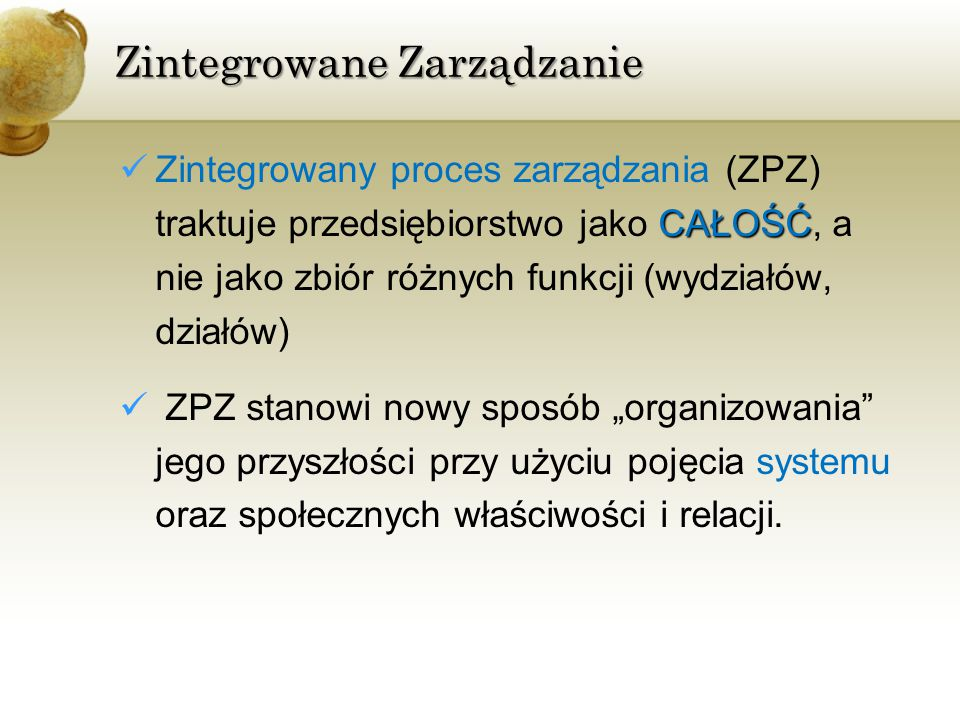 Zintegrowane Zarządzanie