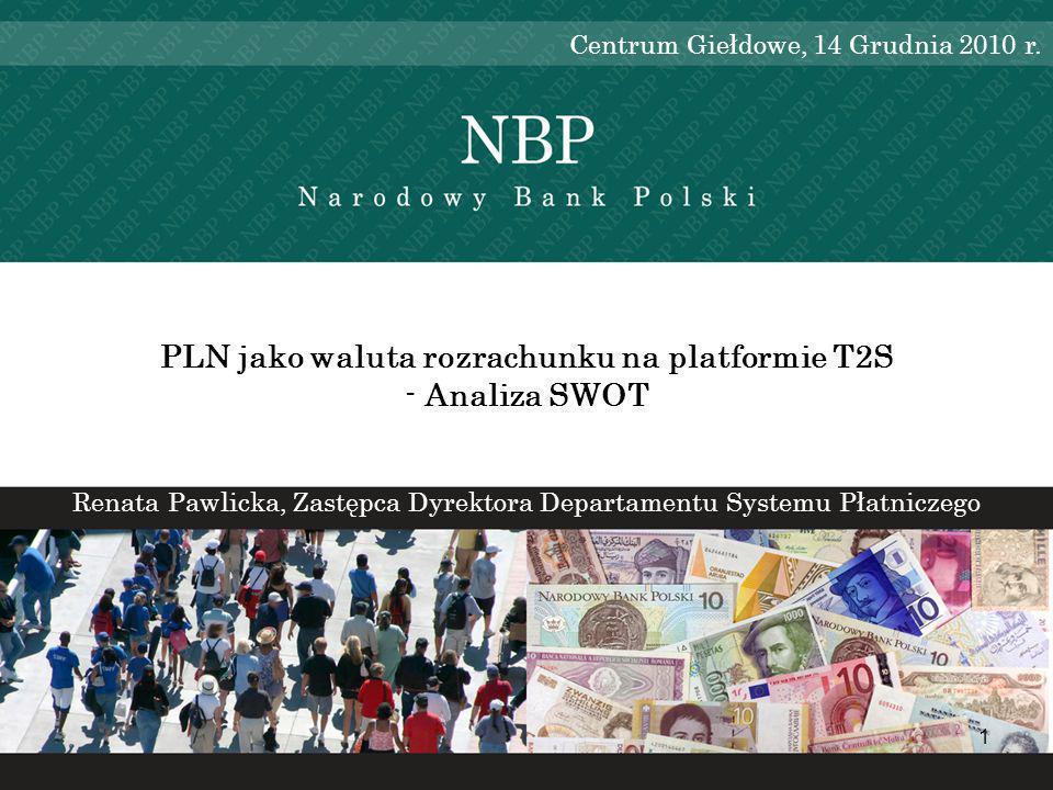 PLN jako waluta rozrachunku na platformie T2S - Analiza SWOT