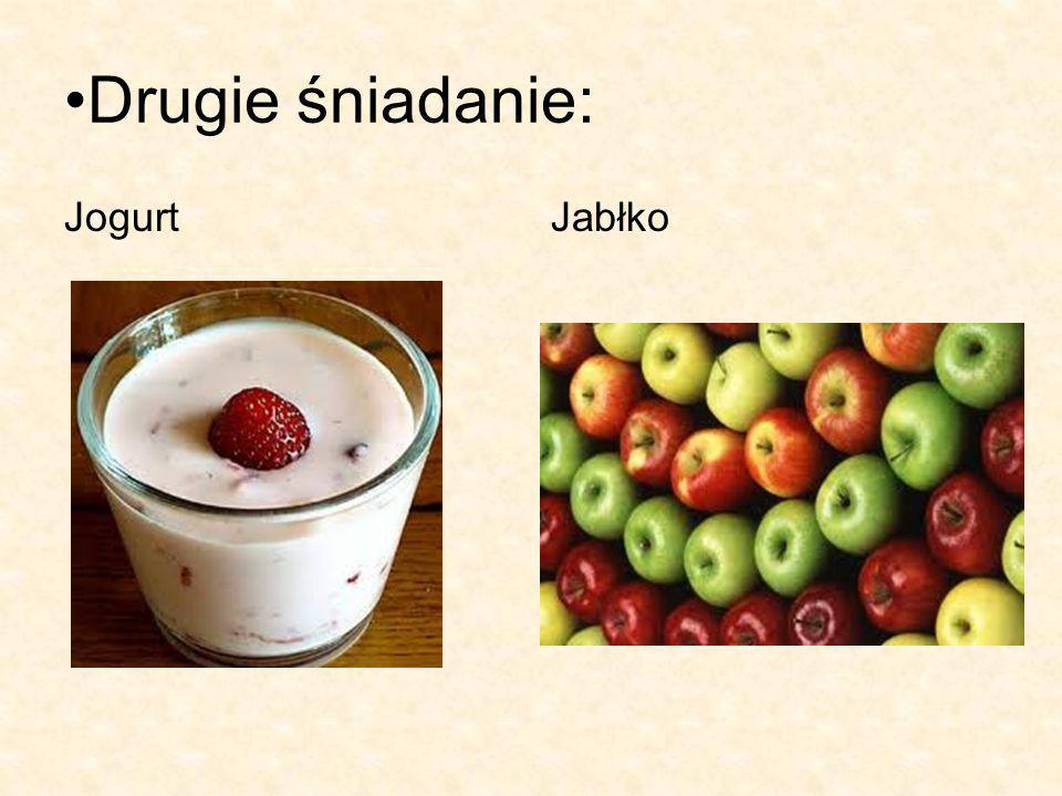 Drugie śniadanie: Jogurt Jabłko