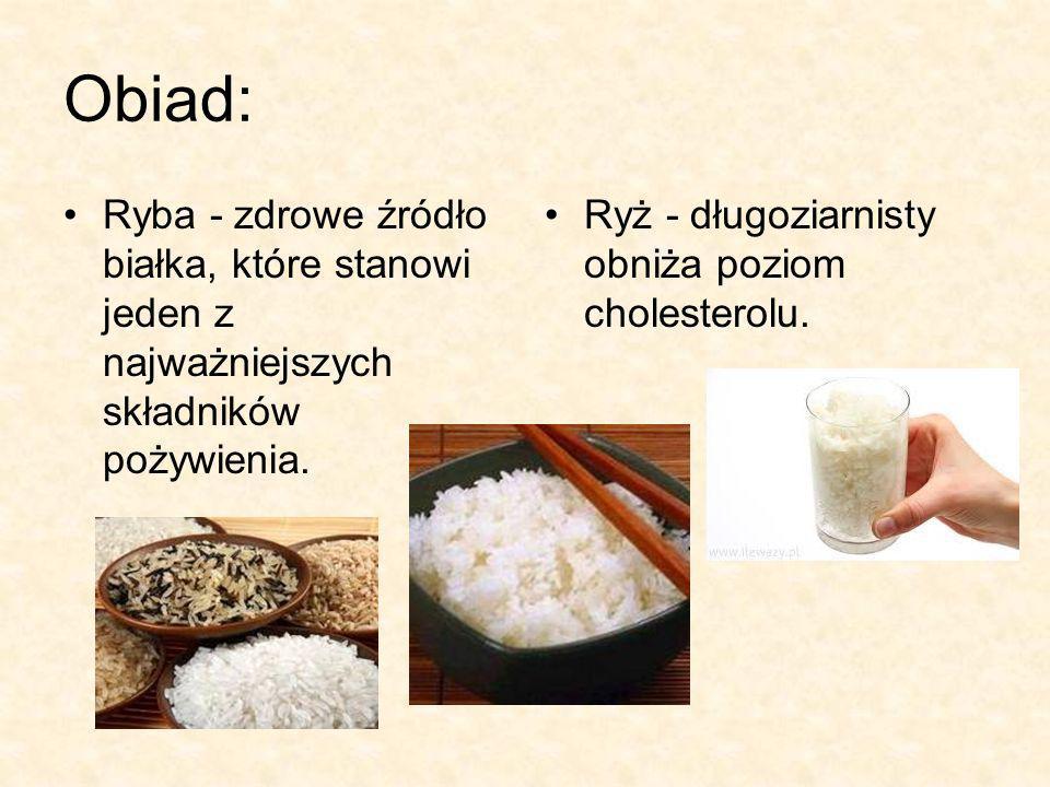 Obiad: Ryba - zdrowe źródło białka, które stanowi jeden z najważniejszych składników pożywienia.