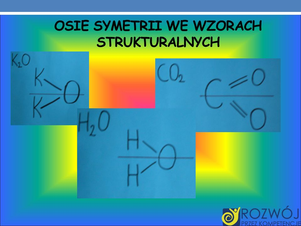 Osie symetrii we wzorach strukturalnych