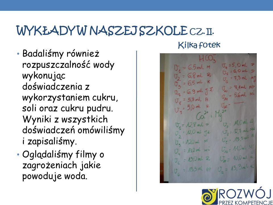 Wykłady w naszej szkole cz. II.