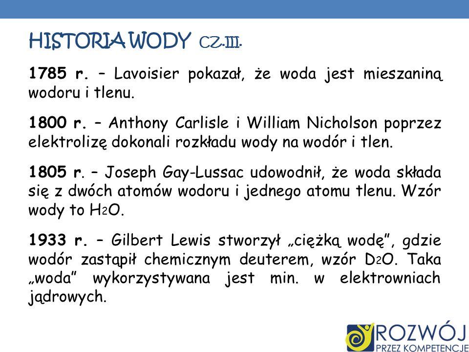 Historia wody CZ.III.