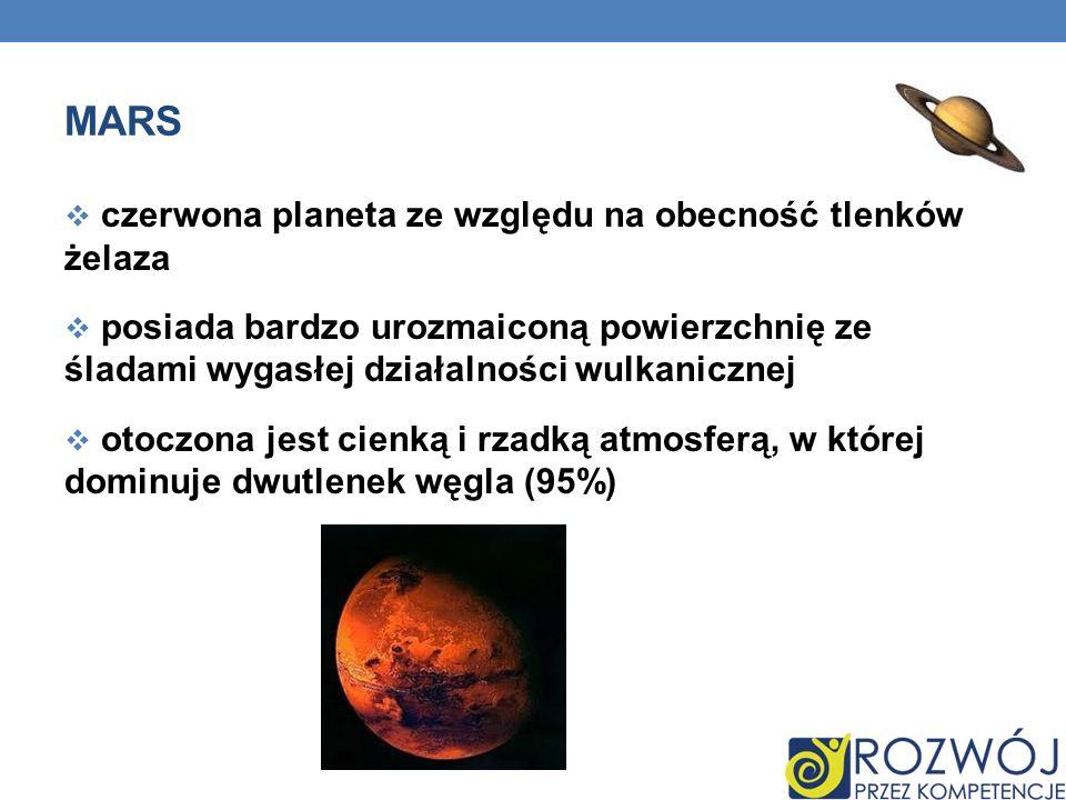 Mars czerwona planeta ze względu na obecność tlenków żelaza
