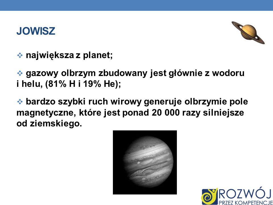 Jowisz największa z planet;