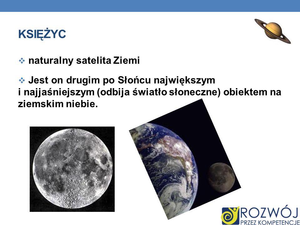 księżyc naturalny satelita Ziemi