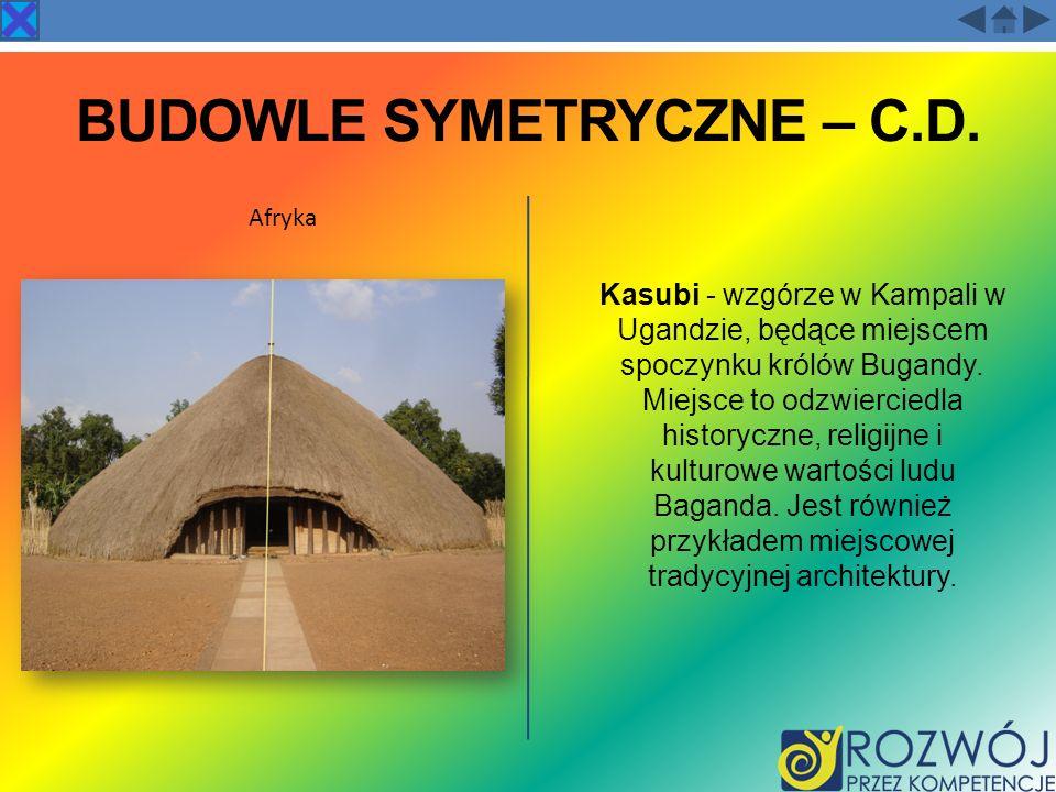 BUDOWLE SYMETRYCZNE – C.D.